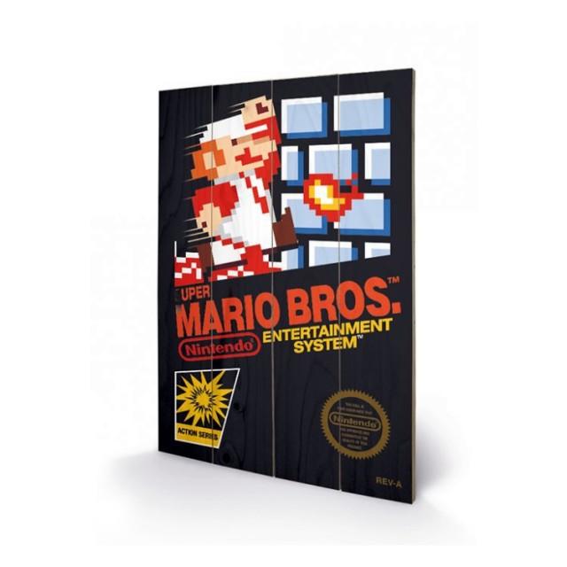 Super Mario Bros Wall Art Original Nes Cartridge Cover 34 99
